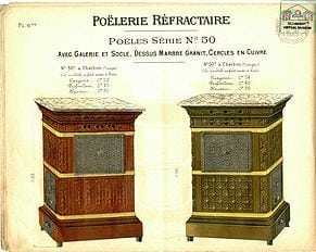 1905 Faienceries de Sarreguemines & Digoin, Poelerie réfractaire Française