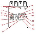 Explanation of printed values made on a thermostat upon IEC60-730-1 § 7-2