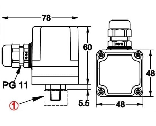 snap action contact pressure switch  field adjustable