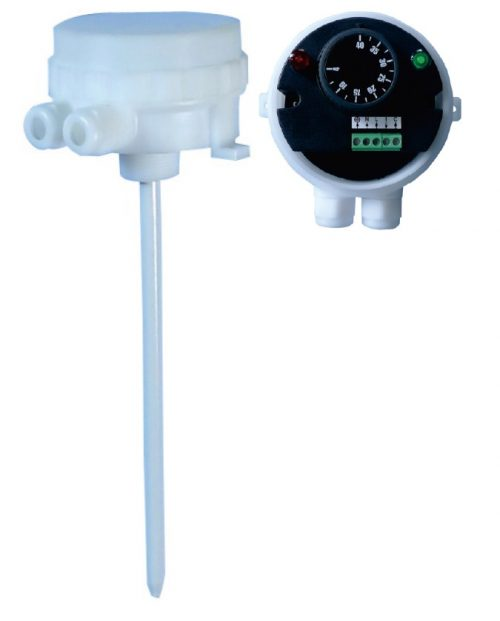 High corrosion resistant electronic rod thermostat IP66